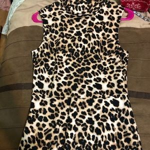 New York and Co leopard dress